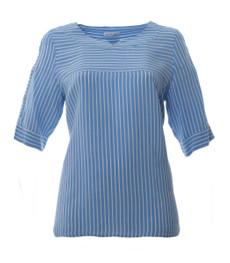Mona Lisa Blusenshirt Damen 3/4 Arm große Größen Hellblau 001