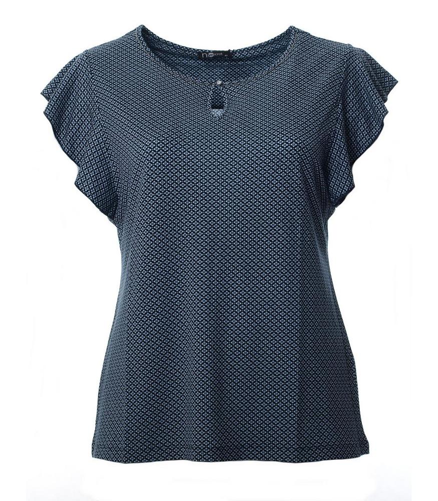 new style 2f33d 3bc4d T-Shirt Damen Top mit Minimal-Druck Blau von No Secret | Mode für Mollige ❤  Damenmode Online Shop für große Größen