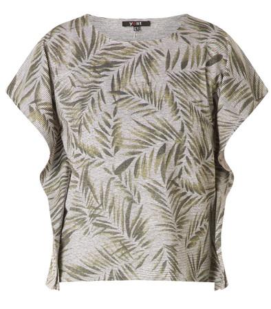 Yest Oversize Shirt Blätter in Grün