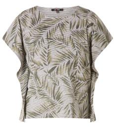 Yest Oversize Shirt Blätter in Grün 001