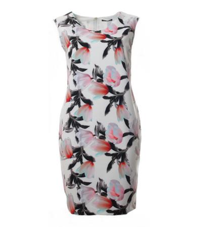 Verpass Sommer-Kleid Weiß knielang ärmellos große Größen