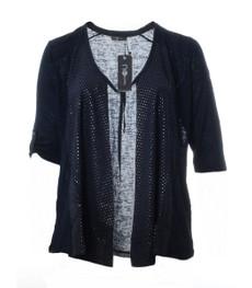 Kurze Sommerjacke Shirtjacke Damen Blau große Größen von No Secret 001