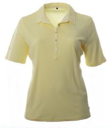 No Secret Damen Poloshirt Gelb Kurzarm große Größen 100% Baumwolle 001