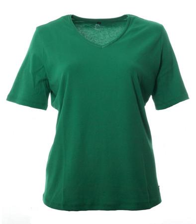 Grünes No Secret T-Shirt Damen V Ausschnitt große Größen 100% Baumwolle