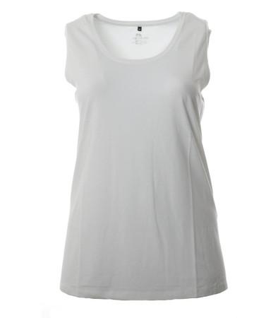 Ärmelloses T-Shirt Top ohne Ärmel in Weiß für Große Größen Damen von No Secret