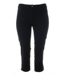 No Secret Stretch 7/8 Jeans-Hose Damen große Größen in Schwarz 001