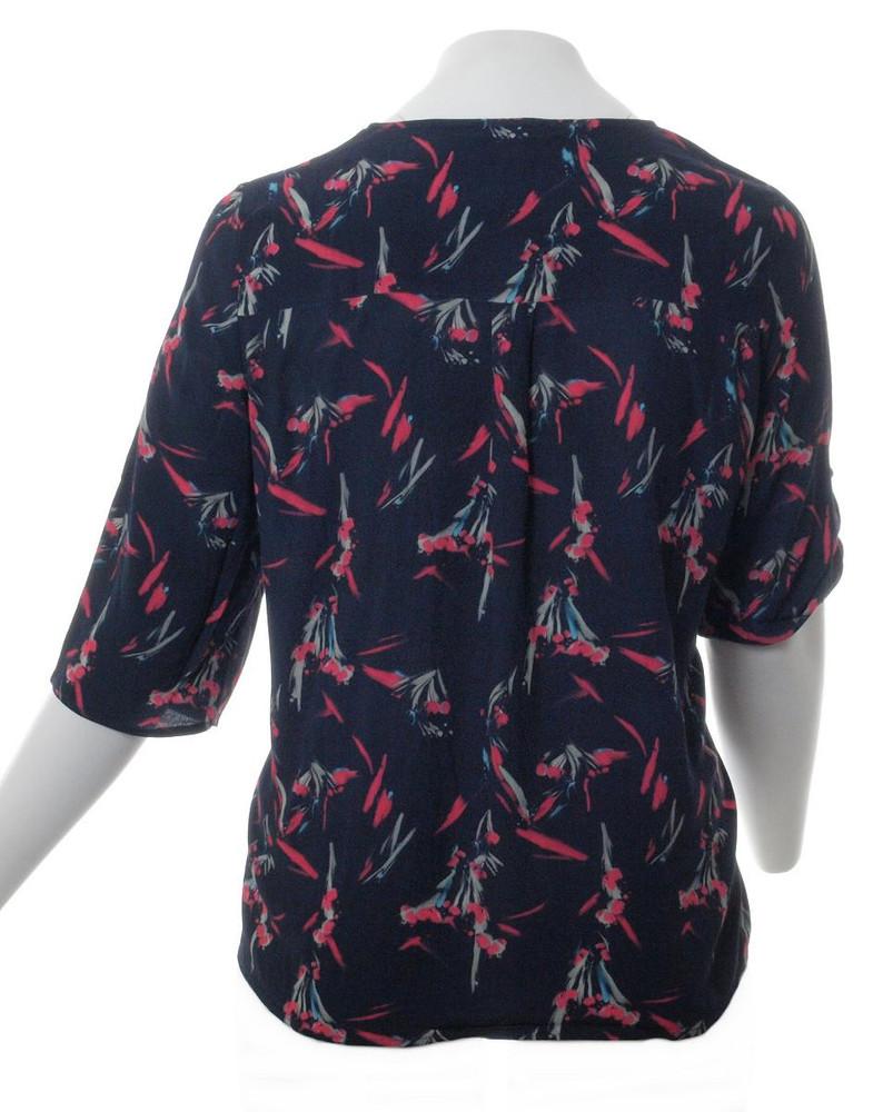 hot sale online 58036 c0598 No Secret Chiffon-Shirt Damen Bluse mit Reißverschluss vorne Dunkel-Blau