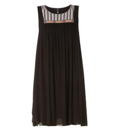 A-Linie Kleid knielang Damen Schwarz 001