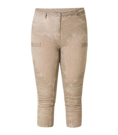 Vintage Stretch Damen Jeans Sand-Braun in 3/4 Länge große Größen