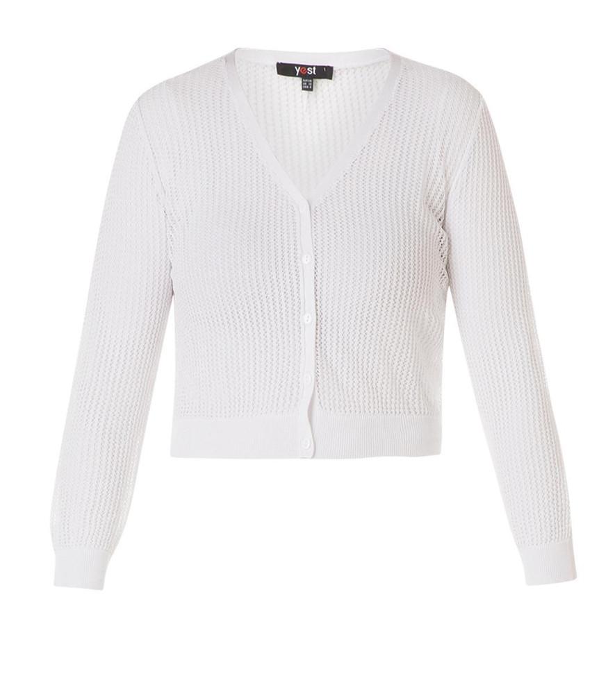 timeless design d91ed c9c0d Damen Häkel-Bolero Strickjacke kurz Weiß | Mode für Mollige ❤ Damenmode  Online Shop für große Größen