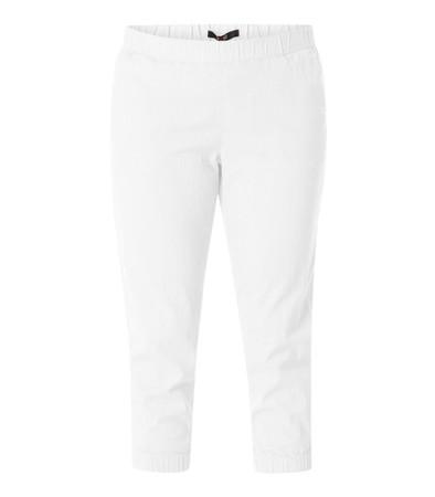 Bequeme Stretch Damen 7/8 Schlupf-Hose große Größen Weiß