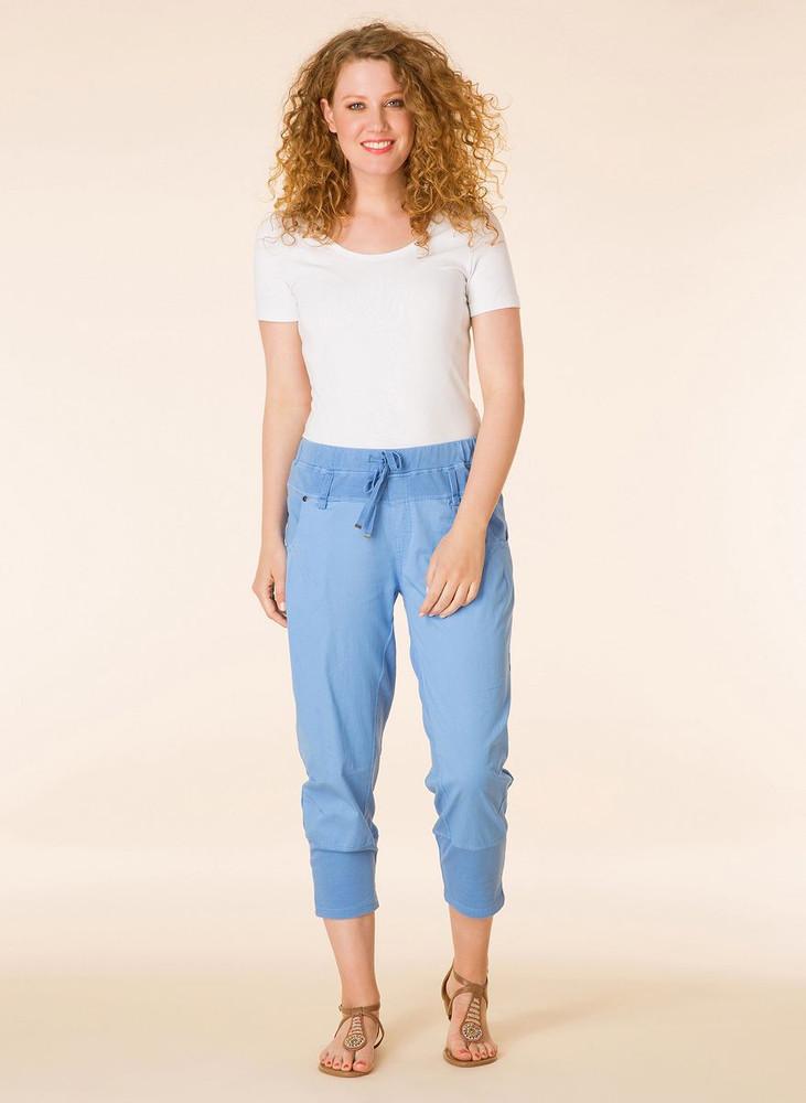 3 4 lange sommerhose damen dunkelblau gr 52