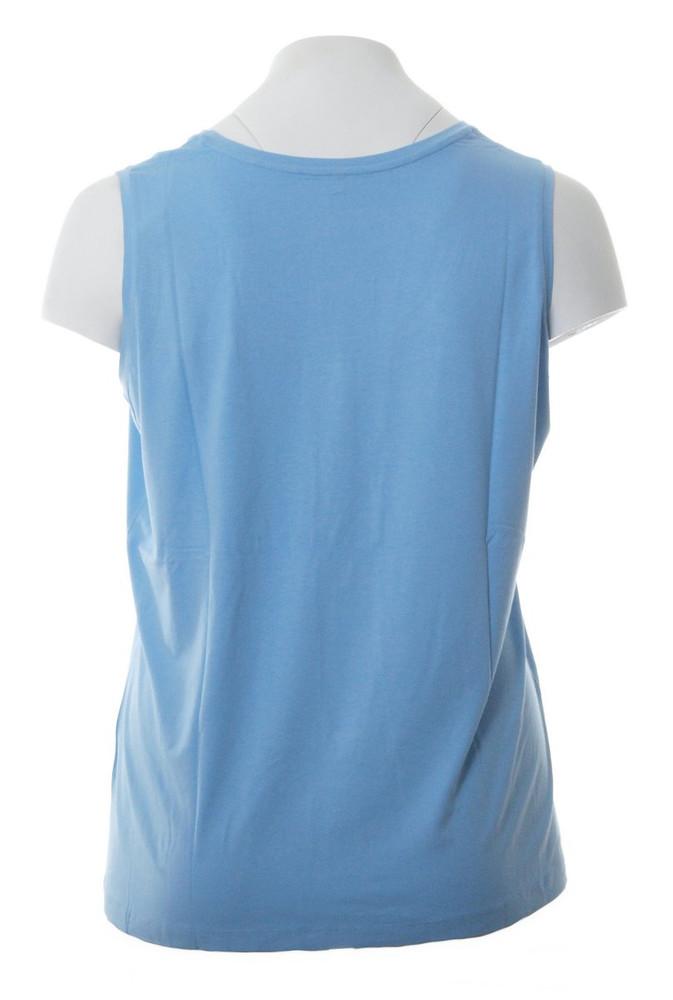 rmelloses t shirt top ohne rmel hellblau f r gro e. Black Bedroom Furniture Sets. Home Design Ideas