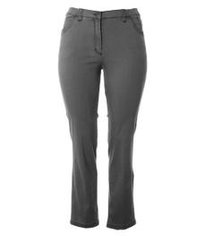 KjBrand Damen Jeans Betty Grau Kurz-Größe mit Komfortbund 001