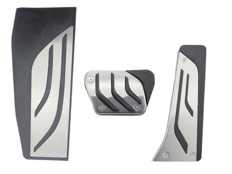 BMW 3er F30 F31 F34 F35 F80 Automatik Edelstahl Pedale Pedalauflagen Fußstütze – Bild 1