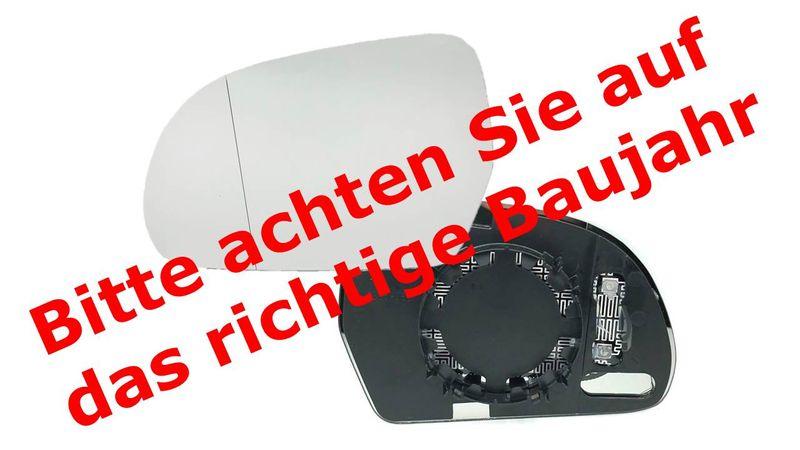 Audi A3 8P1 8P7 8PA  Audi A4 8K2 8K5 B8 SPIEGELGLAS Außenspiegel Spiegel LINKS – Bild 8