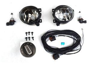 Nebelscheinwerfer NSW  Komplettset Set VW T5 GP mit 10 pol Schalter Chrom 10/09- 001
