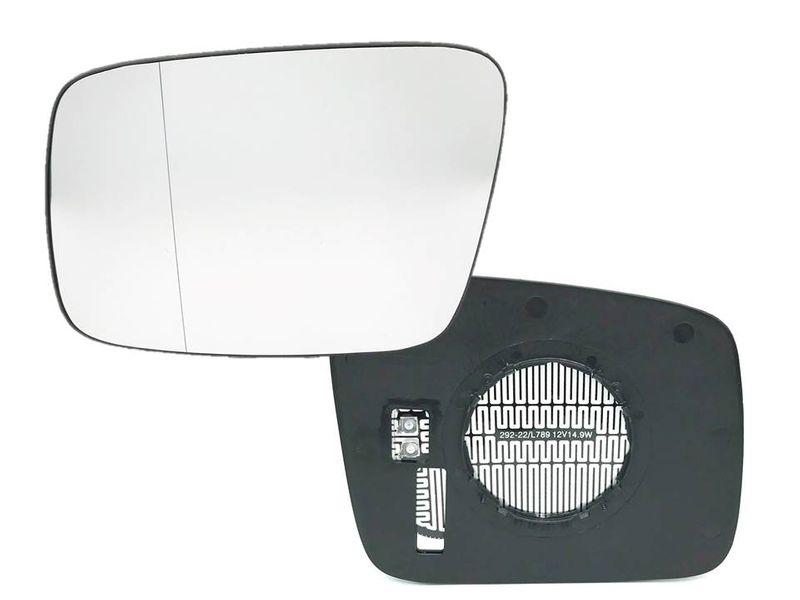 VW T4 Bus Kasten Außenspiegelglas links für elektrisch & beheizte Spiegel Glas – Bild 1