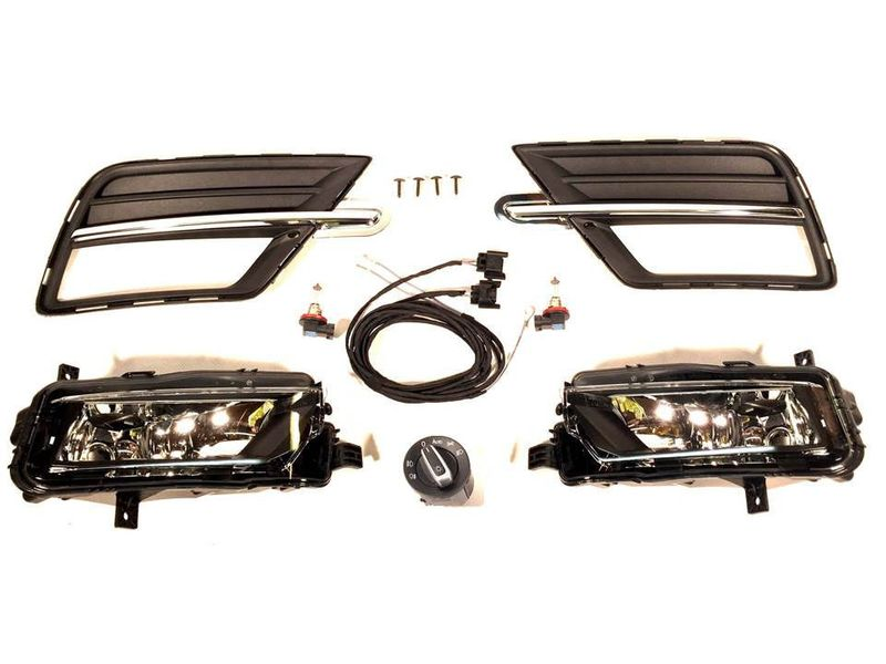 Nebelscheinwerfer Nachrüstung NSW Set Kit Komplettset VW Caddy 4 Highline Chrom