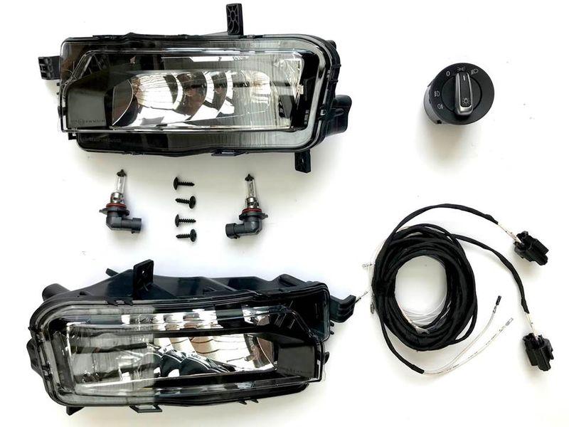 Nebelscheinwerfer Komplettset Nachrüstung NSW Set Highline Schalter chrom VW T6  – Bild 1