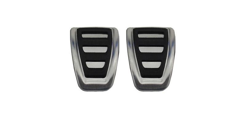 Audi Pedalset Edelstahl A4 B9 A5 F5 17- Schaltgetriebe Pedalkappen Sportpedale  – Bild 2