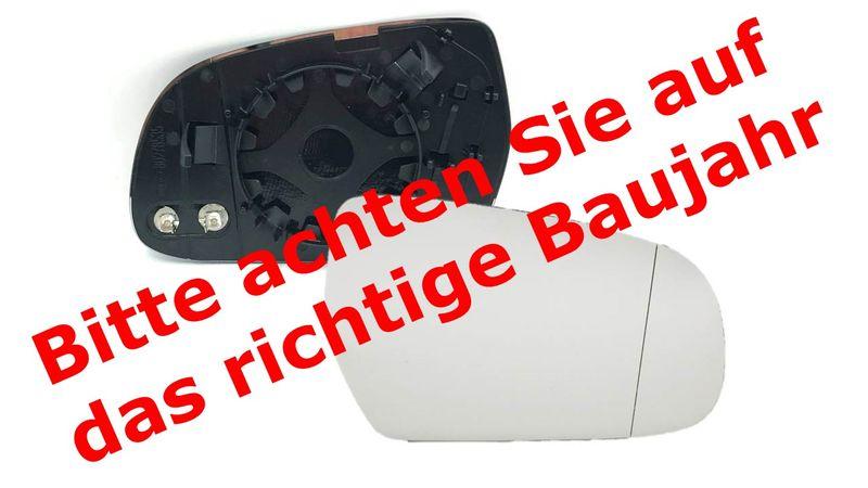 Spiegelglas Außenspiegel Spiegel rechts Asphärisch Audi A3 8P 10- A4 8K 09- A5 – Bild 2