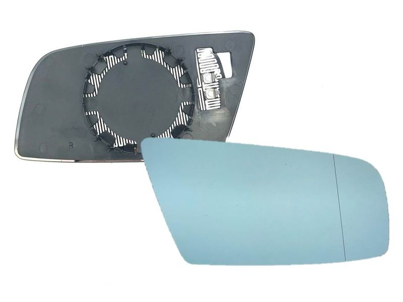 Spiegelglas Spiegel Außenspiegel Glas Rechts beheizbar blau BMW E60 E61 E63 E64 3# – Bild 1