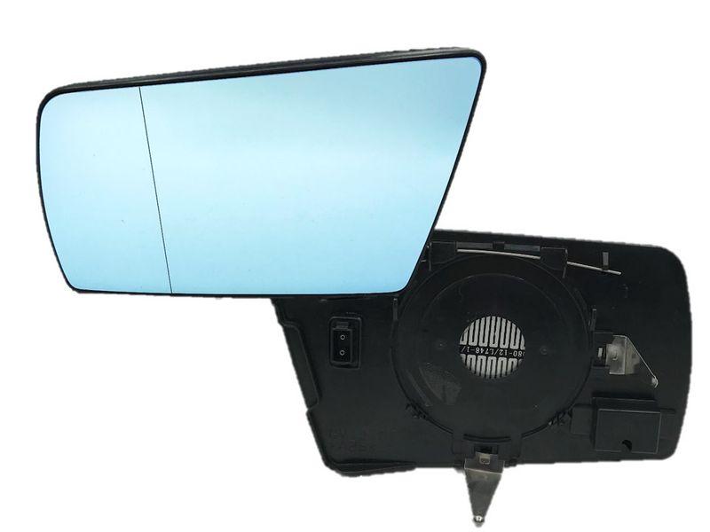 Spiegelglas Spiegel Außenspiegel Glas Links Blau C E Klasse W202 W210 W140  – Bild 1