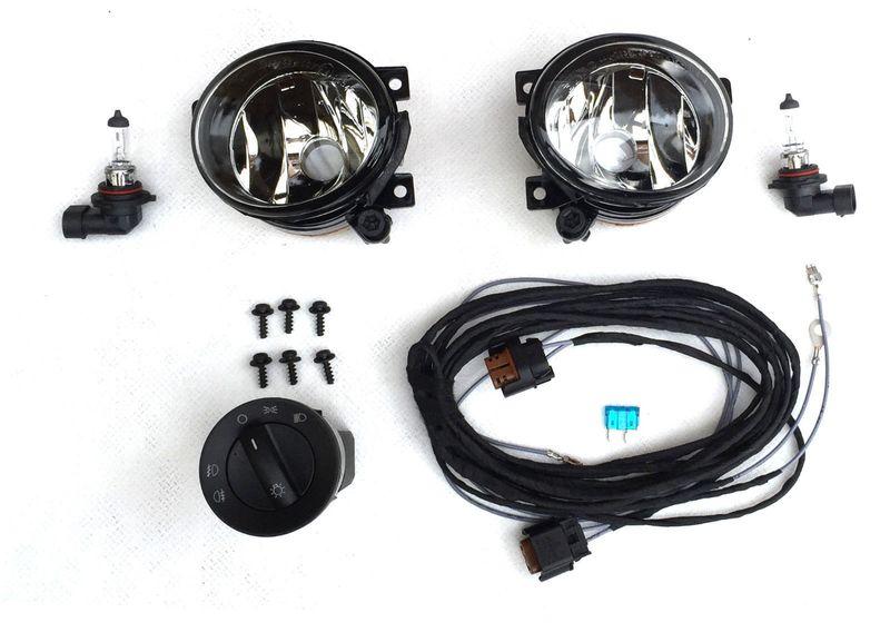 VW T5 10/09- Nebelscheinwerfer NSW Komplettset Nachrüstung 17 pol Schalter sw
