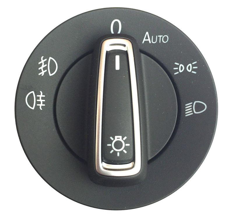 Lichtschalter VW Touran II ab 15 mit Auto + Nebelscheinwerfer NSW Chrom VWChina