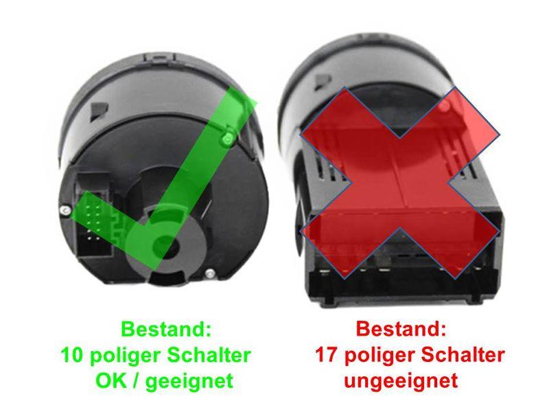Lichtsensor Steuermodul für Golf V 5 VI 6 Automatiklicht mit Lichtschalter schw. – Bild 2