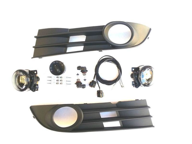 Nebelscheinwerfer NSW Komplettset Nachrüstung Kabel Schalter VW Touran 2006-2009