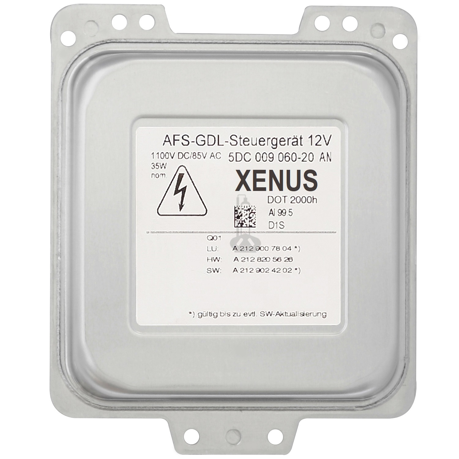 XENUS 5DC 009 060-20 AN AFS-GDL Headlight Ballast Control Unit 12V, Replacement for Hella