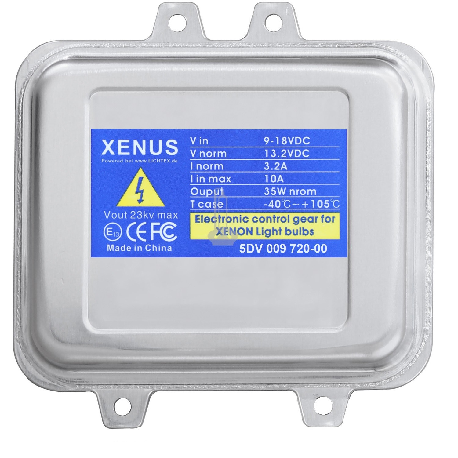 XENUS 5DV 009 720-00 Xenon Xenius Ballast 12V Headlight Control Unit, Replacement for Hella