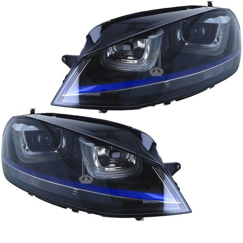VW Golf 7 VII 5G right Bi-xenon headlight with LED daytime running and turning lights GTD GTI GTE R R-Line