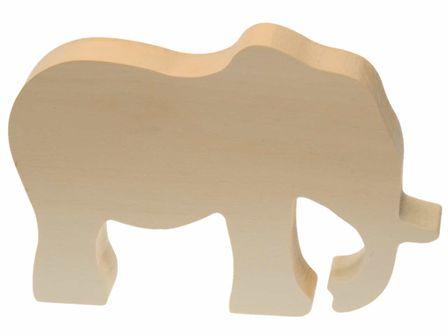 Schnitzrohling Elefant