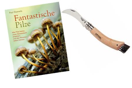 Das Gut- Pilz- Set mit Messer und Buch