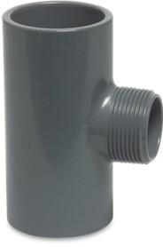 PVC T-Stück 63mmx2  AG