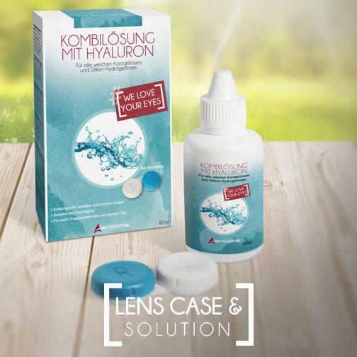 Lens case & solution