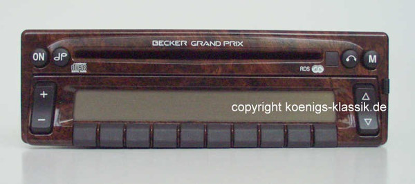 Becker Grand Prix CD Avantgarde im Wurzelholz-Design