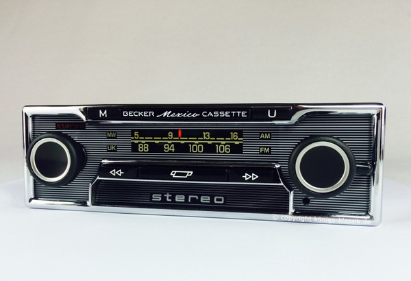 Becker Mexico Cassette Vollstereo for Mercedes Benz 280 SL (113) up from 1969