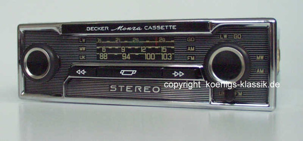 Becker Monza Cassette for Mercedes Benz /8 (114/115)