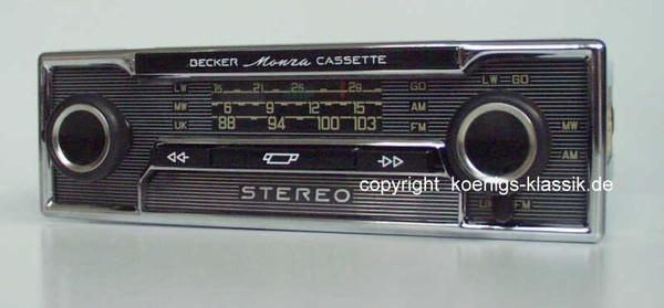 Becker Monza Cassette für  Mercedes Benz 280-450 (116) bis 1978