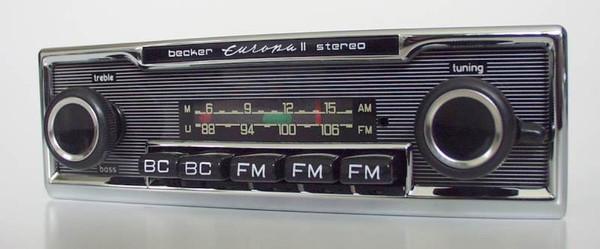 Becker Europa Stereo Exportausführung für Mercedes Benz 107 bis 1978
