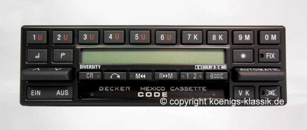 Becker Mexico Cassette Electronic Diversity für MB 107, 1987-89