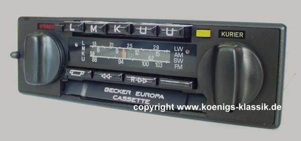Becker Europa Cassette Vollstereo für Merc. Benz 200-300 (123) 1981-85