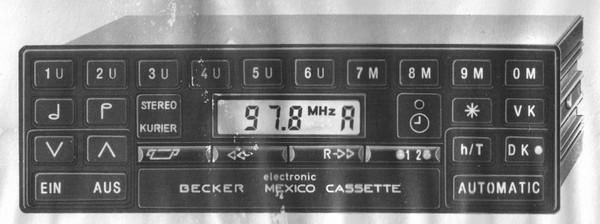 Becker Mexico Cassette Electronic für Merc. Benz 200-300 (123), 1981-83