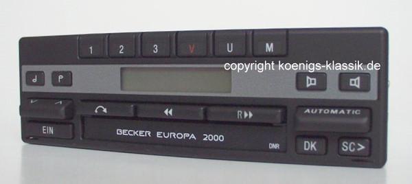 Becker Europa 2000 für Mercedes Benz 280-560 (126) ab 1990