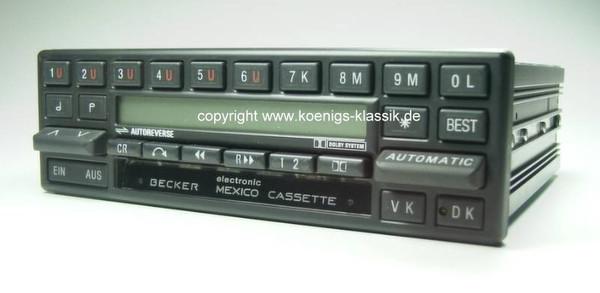 Becker Mexico Cassette Electronic für Merc. Benz 280-560 (126) 1984-87