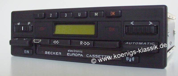 Becker Europa Cassette Electronic for Merc. Benz190 (201), 1985-90